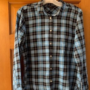 J.Crew Plaid Relaxed-Fit Button-Up